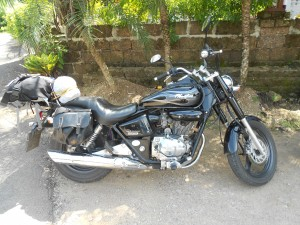 Honda Phantom, rented from Tony's Big bikes in Chiang Mai.